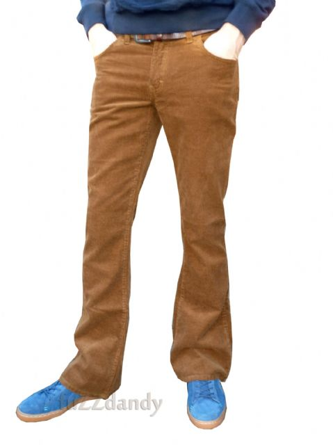 """Cochise"" BOOTCUT CORDS - Boot Cut Corduroy Ginger Cochise Trousers (TOBACCO, BEIGE - BROWN)"